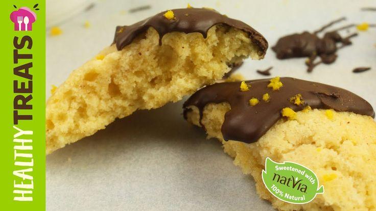 #LowCarb #Jaffa #Cookies, #LCHF, #SugarFree - #Natvia's #Healthy Treats