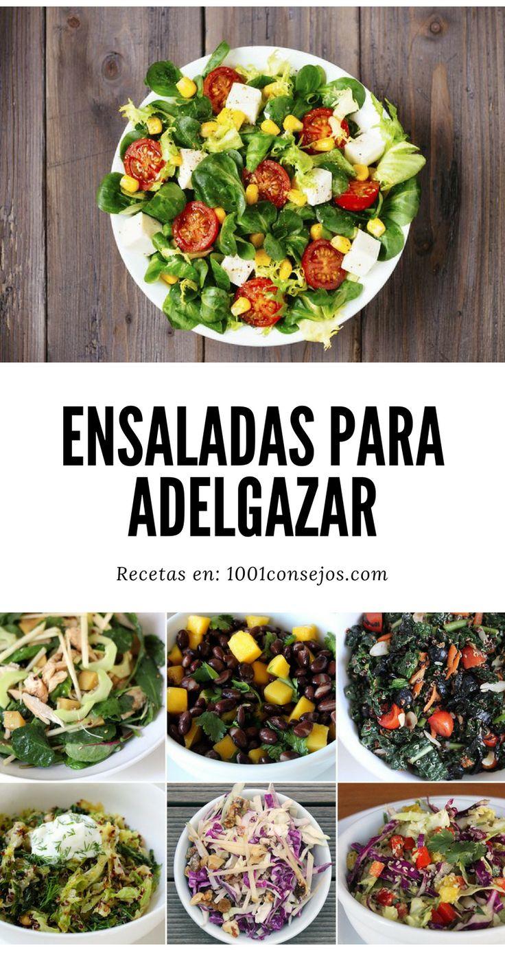No te pierdas las recetas más deliciosas de ensaladas que te ayudarán a adelgazar rápido. | ensaladas saludables bajar de peso | ensaladas recetas bajar de peso | #ensaladas fáciles con lechuga #recetasfáciles