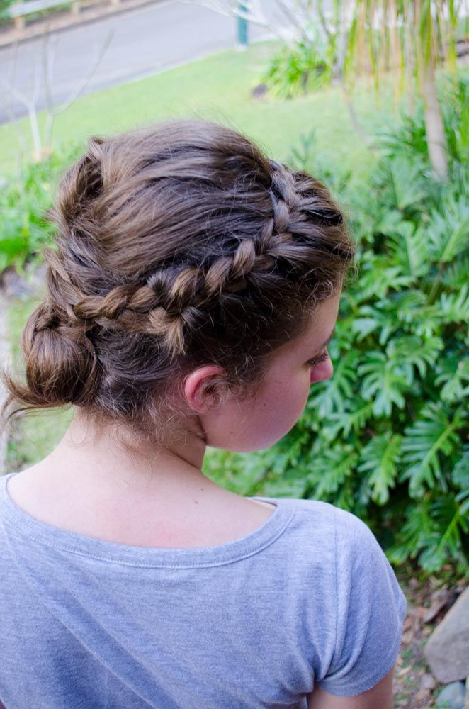 French Braid Up-Do- Formal or wedding hair style