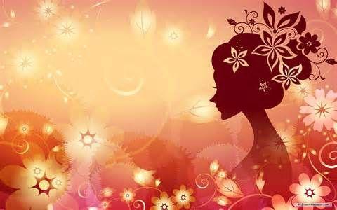 Free Art wallpaper - Flower Woman