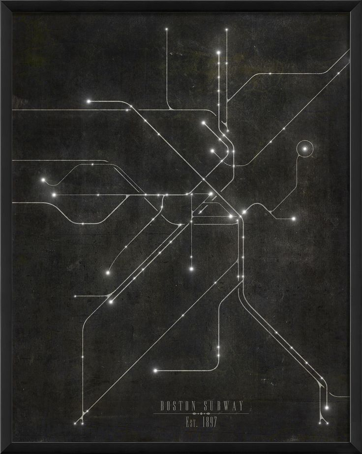The Artwork Factory Boston Subway Map Framed Graphic Art                                                                                                                                                                                 More