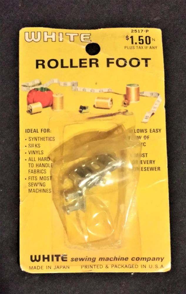 White Roller Foot 2517-P White Sewing Machine Co. New In Open Package #White