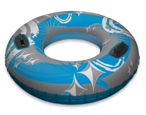 "Large profile size designed for active water play or all-day lounging Two permanently-bonded handles for convenient gripping and support - Poolmaster  50"" Hurricane Sport Tube - Blue"