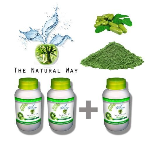 100% PURE ORGANIC MORINGA Oleifera CAPSULES | BUY 2 BOTTLES AND GET 1 Free