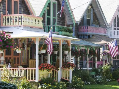 Gingerbread House, Oak Bluffs, Martha's Vineyard ~ Found the recipe for Gingerbread Waffles for Mom & this colorful pic was posted on the page at La Belle Cuisine! Love it.