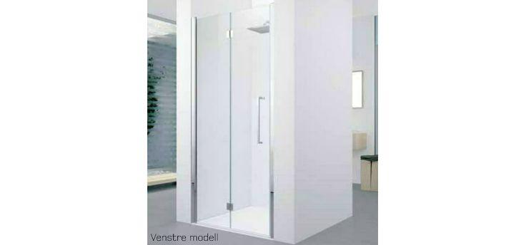 6314224 Novellini Novellini Young 2.0 1BS Foldedør 1170-1210 mm, venstre, krom/klart glass