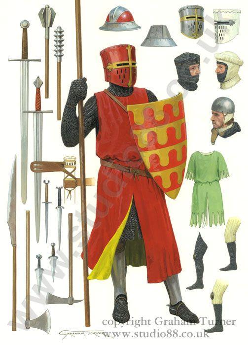 English Knight c.1250 - Original painting