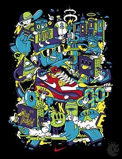 NIKEArt Illustration 19, Illustration Superhero, Nike Illustration, Dxtr, Artillustr 19, Street Art, Nike Free Running, Design Illustration, Behance Network
