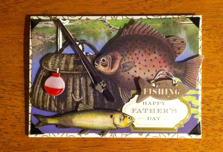 19 best images about card ag masculine on pinterest for Father s day fishing card