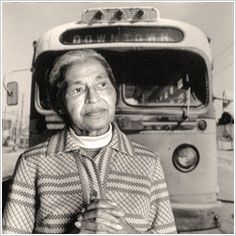 """ I would like to be known as a person who is concerned about freedom and equality and justice and prosperity for all people"" ...Rosa Parks"