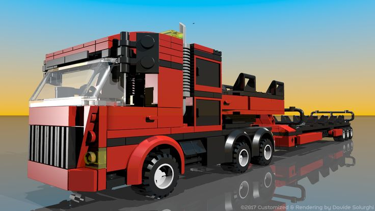 Lego 7747: Town - Wind Turbine Transport - Customized by Davide Solurghi (Morpheus) HD