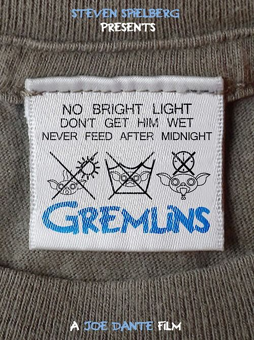 1) Keep it away from bright light, 2) Don't get any water on it, and 3) Never, never ever feed it after midnight. Gremlins by Like a Monkey Art