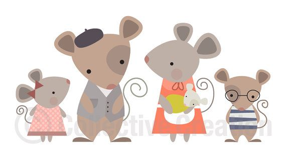 Mouse+Family+Digital+Clip+Art+Clipart+Set++by+CollectiveCreation,+$4.00