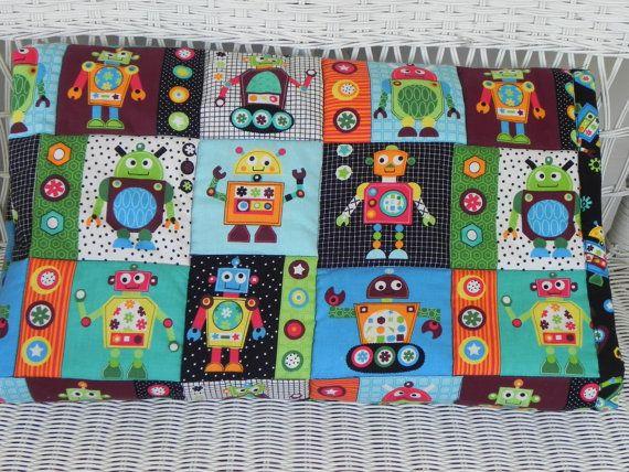 1000 images about quilts robots on pinterest applique for Robot quilt fabric