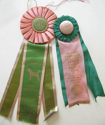 Vintage prize ribbons