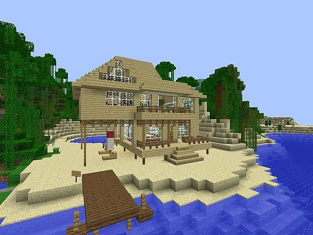 minecraft beach houses images galleries with a bite. Black Bedroom Furniture Sets. Home Design Ideas
