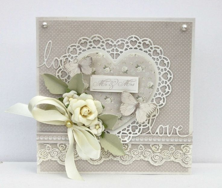 An elegant wedding card by talented Johanna using the Vintage Wedding collection