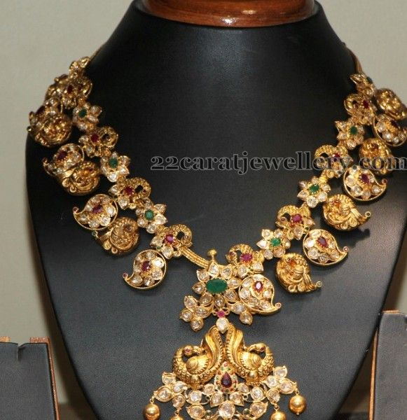 Jewellery Designs: Mango Necklace with Detachable Pendant