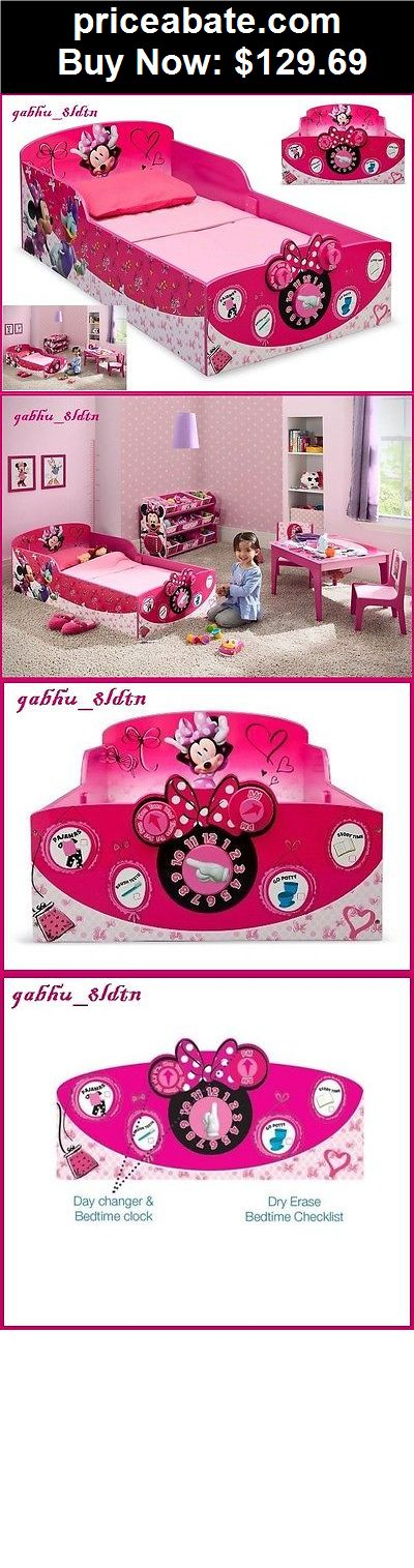 Kids Furniture: Interactive Wood Toddler Bed Minnie Mouse Kids Disney Bedroom  Furniture, Pink