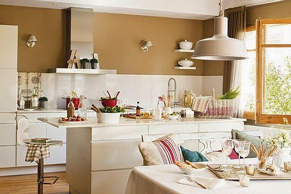 Cocinas abiertas al comedor buscar con google for Cocina comedor pequena