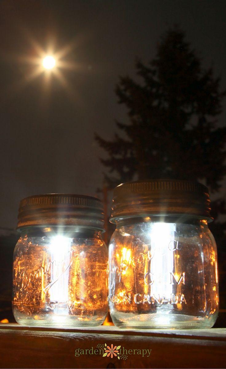 Make Mason Jar Solar Lanterns from vintage mason jars and solar lights - this has full step-by-step instructions