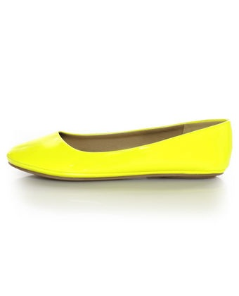 Let your feet glow in Neon Patent Ballet Flats