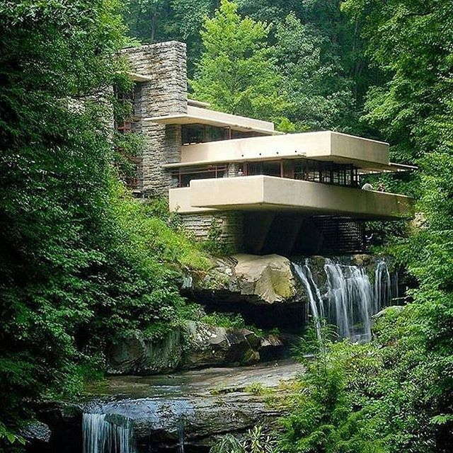 Modern Architecture Frank Lloyd Wright 25+ best fallingwater home ideas on pinterest | falling water