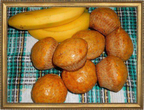 Банановые кексы с корицей.