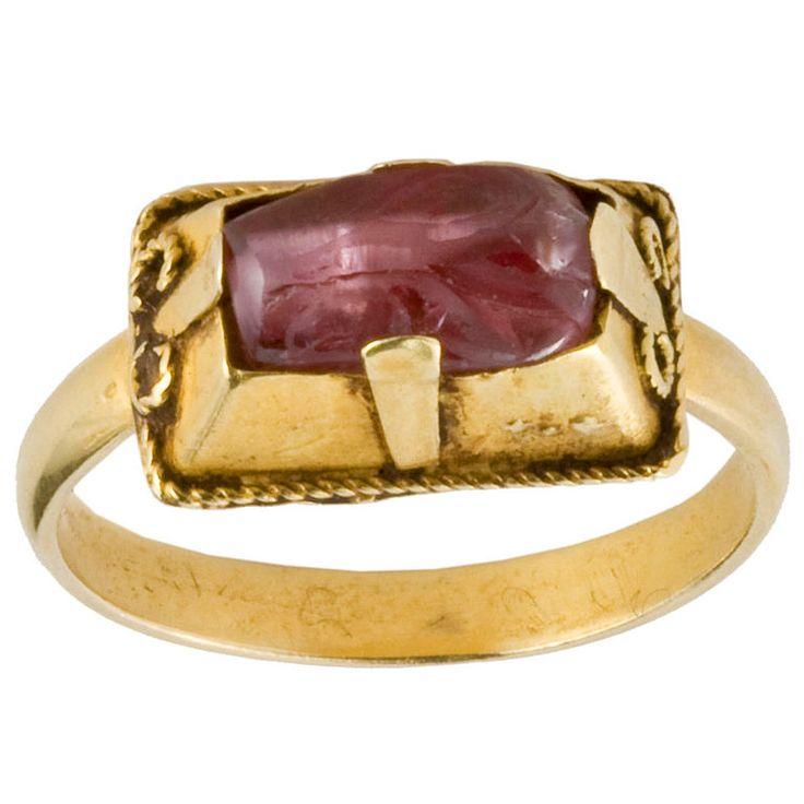 Gothic Gemstone Ring; Western Europe  13th-14th centuries: Ancient Jewelry, Fascinating Gemstones, Rings Rings, Gemstone Rings, 1Stdibs With Jewelry, Antique Jewelry, Gothic Gemstone, Art Jewelry Rings