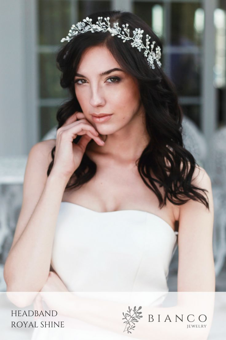 Wedding heaband Wedding inspirations Wedding hairstyle Bianco Jewelry
