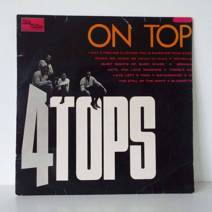 Rare Vintage  1966 Four Tops On Top LP Vinyl Record Australian Pressing Mono Soul Tamla Motown by VintageBlackCatz on Etsy