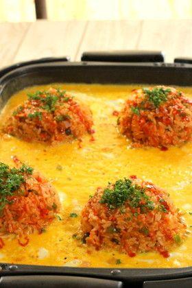 ホットプレートで4人分オープンオムライス by いづみうな [クックパッド] 簡単おいしいみんなのレシピが246万品
