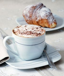 ✕ Coffee-and-croissant by {this is glamorous}, via Flickr / #coffee #croissants #tastes