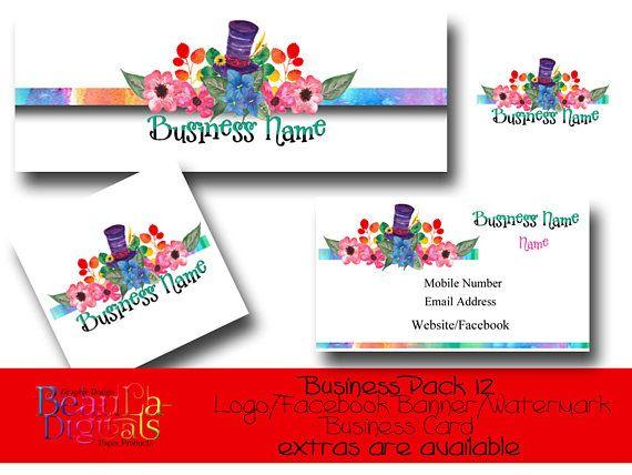 Logo Design Facebook Etsy Cover Banner Business Pack Logo