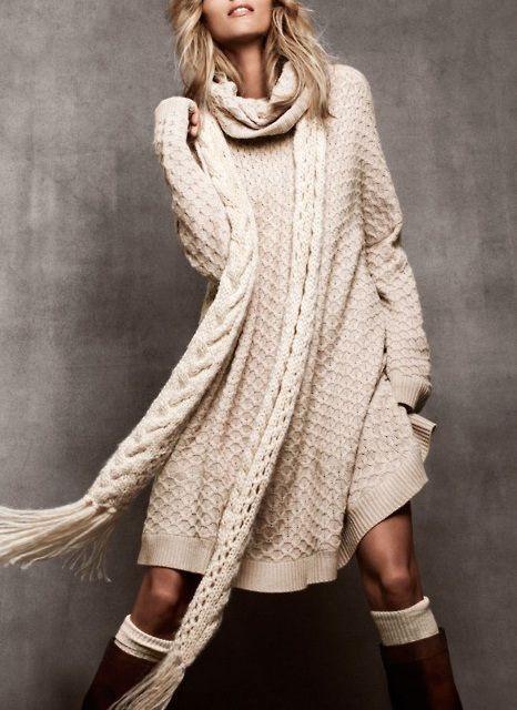 Модный маст-хэв: платье-свитер-12