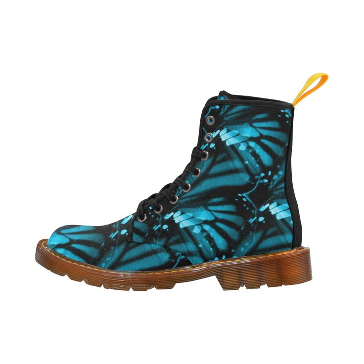 Blue Butterfly Wings Martin Boots For Women Model 1203H.