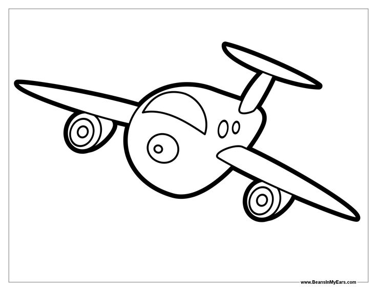 plane coloring page for toddlers