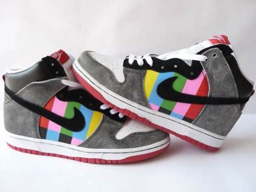 test pattern sneakers