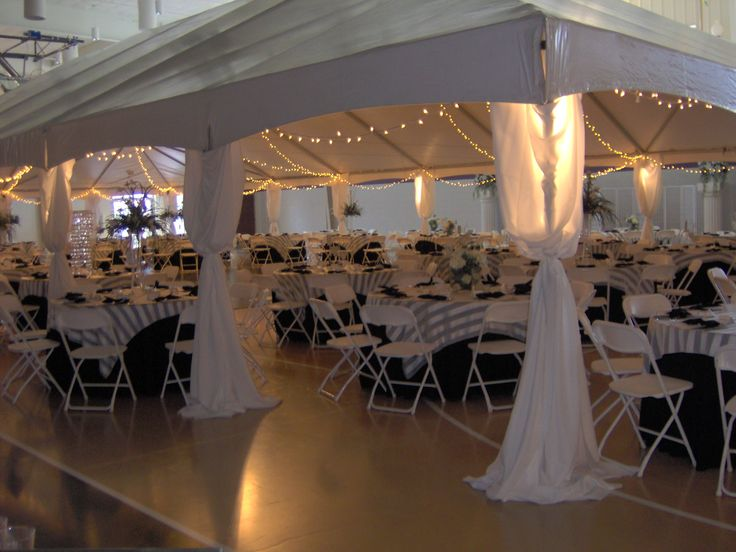 Tents Can Be Set Up Inside To Define A Space Such As This