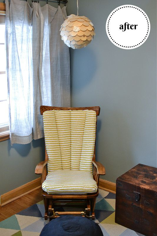 Reupholstering a Nursery Glider | Things I Made Today