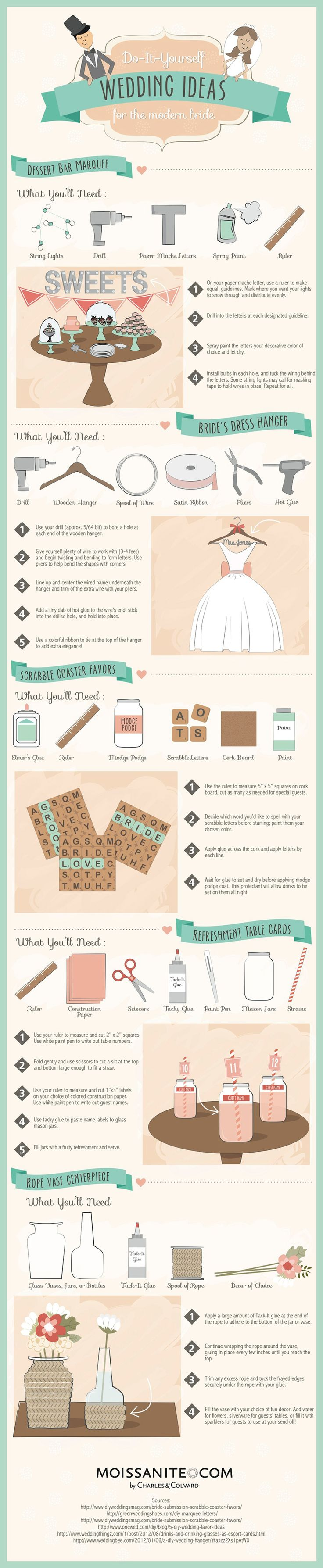Do-It-Yourself Wedding Ideas for the Modern Bride