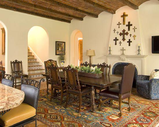 Spanish Mediterranean Style Residence, hacienda chic, interior design, California Interior Designer, Dallas Interior Designer, architecture, design, color, texture, dining, entertaining, tabletop, faith, culture, fashion, textiles