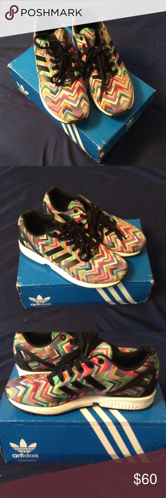 Adidas ZX FLUX Comes in original shoe box Adidas Shoes Athletic Shoes