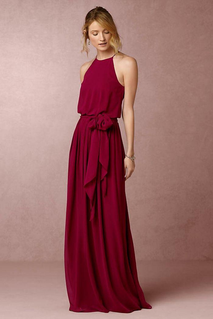 Noble tenue classe femme robes de soirée pour mariage idée robe rouge