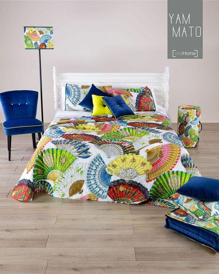 La #primavera è finalmente arrivata: è il momento di sfoggiare #Yamato sui nostri letti! #Reevèr #OneHome #Casa #letto #spring #quilt