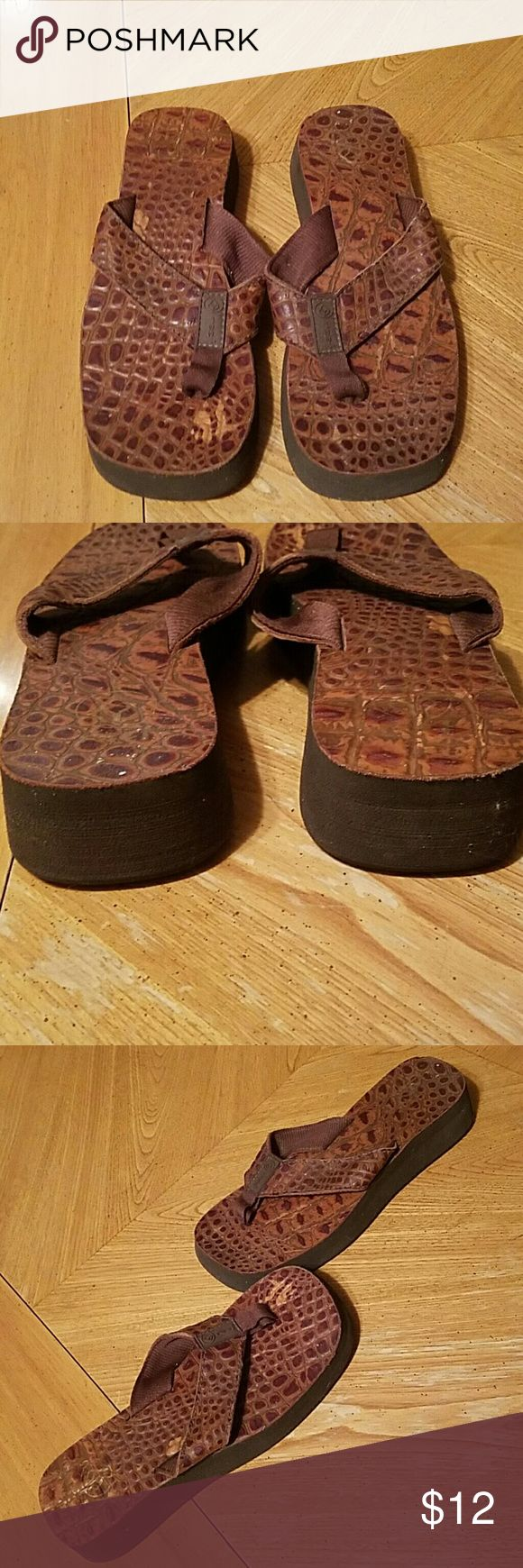Reef flip flops In used condition Reef flip flops. Cute and comfortable. Reef Shoes Sandals