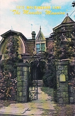 1313 Mockingbird Lane ( the Munster Mansion from TV ) NUMBER CHALLENGE , 1313 over the mailbox)