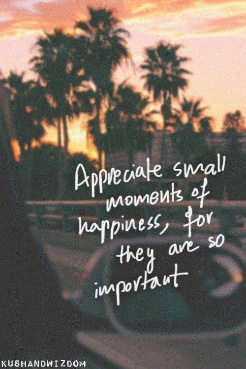 Quote: Appreciate Small Moments Of Happiness | Small ...