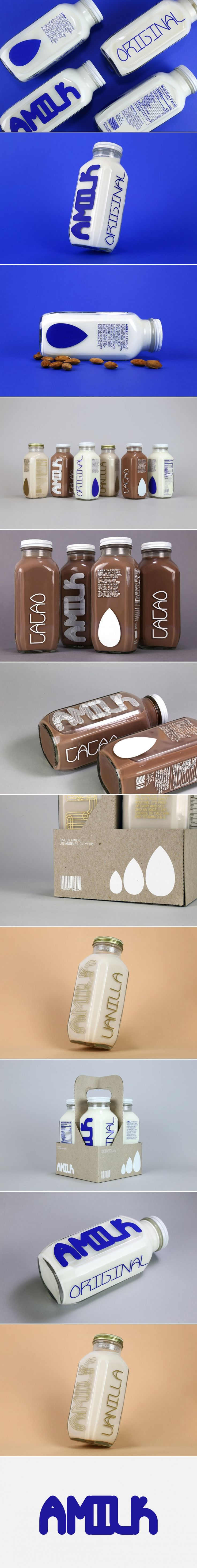 Check Out this Typographically Funky Almond Milk Packaging — The Dieline | Packaging & Branding Design & Innovation News