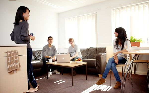 This is a communal living area that you would share if you lived with friends